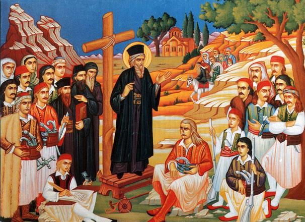 Άγιος Κοσμάς Κήρυγμα